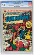 Golden Age (1938-1955):Horror, Adventures Into The Unknown #15 Mile High pedigree (ACG, 1951) CGCVF/NM 9.0 Off-white to white pages....