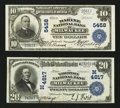 National Bank Notes:Wisconsin, Two Lightly Handled Milwaukee Large Size Nationals.. ... (Total: 2 notes)