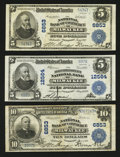 National Bank Notes:Wisconsin, Three More Milwaukee Large Size Nationals.. ... (Total: 3 notes)