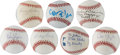 Movie/TV Memorabilia:Autographs and Signed Items, Gene Autry and Others Celebrity Signed Baseballs.... (Total: 7 )