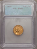 1908 $2 1/2 MS61 ICG. NGC Census: (1277/5082). PCGS Population (346/4119). Mintage: 564,800. Numismedia Wsl. Price for p...