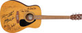Music Memorabilia:Autographs and Signed Items, Beach Boys Band-Signed Band Guitar....