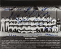 Baseball Collectibles:Photos, 1978 New York Yankees Team Signed Photograph....