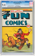 Golden Age (1938-1955):Miscellaneous, More Fun Comics #37 Mile High pedigree (DC, 1938) CGC NM 9.4 Off-white to white pages....
