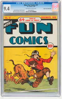 More Fun Comics #37 Mile High pedigree (DC, 1938) CGC NM 9.4 Off-white to white pages