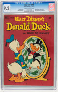 Golden Age (1938-1955):Funny Animal, Four Color #356 Donald Duck (Dell, 1951) CGC NM- 9.2 Cream tooff-white pages....