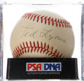 Baseball Collectibles:Balls, Ted Lyons Single Signed Baseball PSA EX-MT 6....
