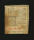 Colonial Notes:Connecticut, Connecticut October 11, 1777 4d Slash Cancel Extremely Fine....
