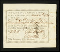 Colonial Notes:Connecticut, Connecticut Pay Table Office. March 10, 1784. Extremely Fine....