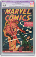 Golden Age (1938-1955):Superhero, Marvel Comics #1 (Timely, 1939) CGC Apparent FN+ 6.5 Extensive (P) Cream to off-white pages....