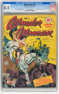 Golden Age (1938-1955):Superhero, Wonder Woman #1 Crowley Copy pedigree (DC, 1942) CGC VF+ 8.5 Off-white to white pages....