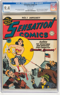 Sensation Comics #1 (DC, 1942) CGC NM 9.4 Off-white pages