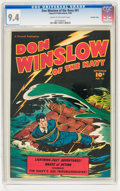 Golden Age (1938-1955):War, Don Winslow of the Navy #61 Crowley Copy pedigree (Fawcett, 1948)CGC NM 9.4 Cream to off-white pages....