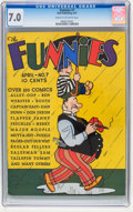 Platinum Age (1897-1937):Miscellaneous, The Funnies #7 (Dell, 1937) CGC FN/VF 7.0 Cream to off-whitepages....
