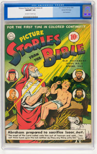 Picture Stories from the Bible Old Testament Issue #3 - Gaines File pedigree (DC, 1943) CGC NM/MT 9.8 Off-white to white...