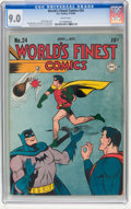 Golden Age (1938-1955):Superhero, World's Finest Comics #24 (DC, 1946) CGC VF/NM 9.0 White pages....