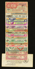 Military Payment Certificates:Series 461, MPC Potpourri.... (Total: 16 notes)