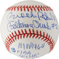 Autographs:Baseballs, Brooks Robinson MVP Inscription Single Signed Baseball....