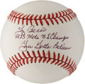 Autographs:Baseballs, Yogi Berra Single Signed Inscription Baseball. ...