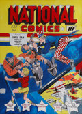 Original Comic Art:Covers, Murphy Anderson National Comics #1 Uncle Sam CoverRe-Creation Original Art (undated)....