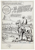 Original Comic Art:Splash Pages, Dick Ayers and Tony DeZuniga Jonah Hex #23 Splashpage 1 Original Art (DC, 1979)....