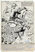 Original Comic Art:Splash Pages, Dick Ayers and Tony DeZuniga Jonah Hex #58 SplashPage 1 Original Art (DC, 1982)....