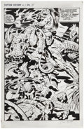 Original Comic Art:Splash Pages, Jack Kirby and Mike Thibodeaux Captain Victory and the GalacticRangers #13 Splash page 15 Original Art (Pacific C...