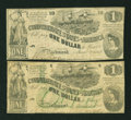 Confederate Notes:1862 Issues, T44 $1 1862. T45 $1 1862.. ... (Total: 2 notes)