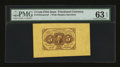 Fractional Currency:First Issue, Fr. 1231SP 5c First Issue Wide Margin Face PMG Choice Uncirculated 63 EPQ....