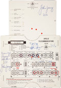 """Transportation:Space Exploration, Apollo 7 Training-Used """"Telecommunications SC101"""" InstrumentationCard Directly from the Personal Collection of Mission Backup..."""