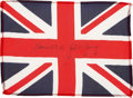 Transportation:Space Exploration, Gemini 10 Flown Flag of the United Kingdom Directly from thePersonal Collection of Mission Commander John Young, Signed andC...