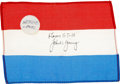 Transportation:Space Exploration, Gemini 10 Flown Flag of Netherlands Directly from the Personal Collection of Mission Commander John Young, Signed and Certifie...