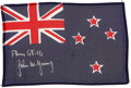 Transportation:Space Exploration, Gemini 10 Flown Flag of New Zealand Directly from the Personal Collection of Mission Commander John Young, Signed and Certifie...
