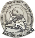 Transportation:Space Exploration, Space Shuttle Columbia - Spacelab 1 (STS-9) Flown SilverRobbins Medallion Directly from the Personal Collection o...