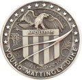 Transportation:Space Exploration, Apollo 16 Flown Silver Robbins Medallion Directly from the PersonalCollection of Mission Commander John Young, Serial Number ...