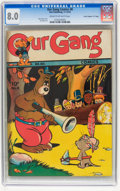 "Golden Age (1938-1955):Funny Animal, Our Gang Comics #8 Davis Crippen (""D"" Copy) pedigree (Dell, 1943)CGC VF 8.0 Cream to off-white pages...."