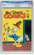 Golden Age (1938-1955):Cartoon Character, Walt Disney's Comics and Stories #56 (Dell, 1945) CGC VF+ 8.5 Creamto off-white pages....