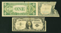 Miscellaneous:Other, World War Two Propaganda Facsimile Note Schwan-Boling 401 $1 1935Silver Certificate. VG missing upper right corner. World War...(Total: 2 notes)
