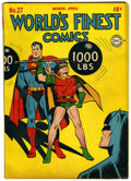 Golden Age (1938-1955):Superhero, World's Finest Comics #27 (DC, 1947) Condition: Qualified FN....