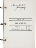 Transportation:Space Exploration, Apollo 10 Flown CSM Updates Checklist Directly from the Personal Collection of Mission Command Module Pilot John Y...