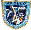 Transportation:Space Exploration, Apollo 10 Flown Embroidered Mission Insignia Patch Directly fromthe Personal Collection of Mission Command Module Pilot John ...