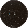 "Transportation:Space Exploration, Apollo 11 Training-Used ""LM-TD+2"" Star Chart Directly from thePersonal Collection of Astronaut John Young, Signed and Certifi..."