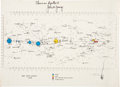 Transportation:Space Exploration, Apollo 10 Flown CSM Star Chart Directly from the PersonalCollection of Mission Command Module Pilot John Young, Signed andCe...