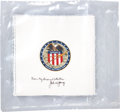 Transportation:Space Exploration, Apollo 16 Still-Sealed Package of Twenty-Five Unflown Beta ClothMission Insignia Patches Directly from the Personal Collectio...