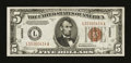 Small Size:World War II Emergency Notes, Fr. 2302 $5 1934A Hawaii Federal Reserve Note. Very Fine-Extremely Fine.. ...