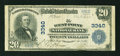 National Bank Notes:Nebraska, West Point, NE - $20 1902 Plain Back Fr. 650 The West Point NB Ch. # 3340. ...