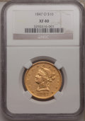 Liberty Eagles: , 1847-O $10 XF40 NGC. NGC Census: (67/604). PCGS Population(116/254). Mintage: 571,500. Numismedia Wsl. Price for problem f...