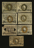 Fractional Currency:Second Issue, Eclectic Seven-Piece Second Issue Group.... (Total: 7 notes)