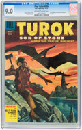 Golden Age (1938-1955):Miscellaneous, Four Color #656 Turok Son of Stone (Dell, 1955) CGC VF/NM 9.0 Off-white to white pages....