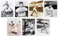 Baseball Collectibles:Photos, Brooklyn Dodgers Signed Photograph Lot of 7....